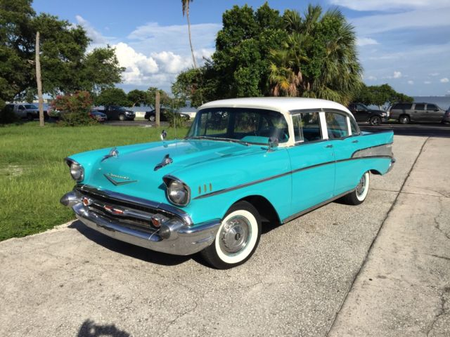 1957 chevy bel air four door looks runs and drives for 1957 belair 4 door for sale