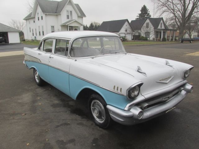 1957 Chevy Belair 150 210 Solid V8 Car Car Nice Original