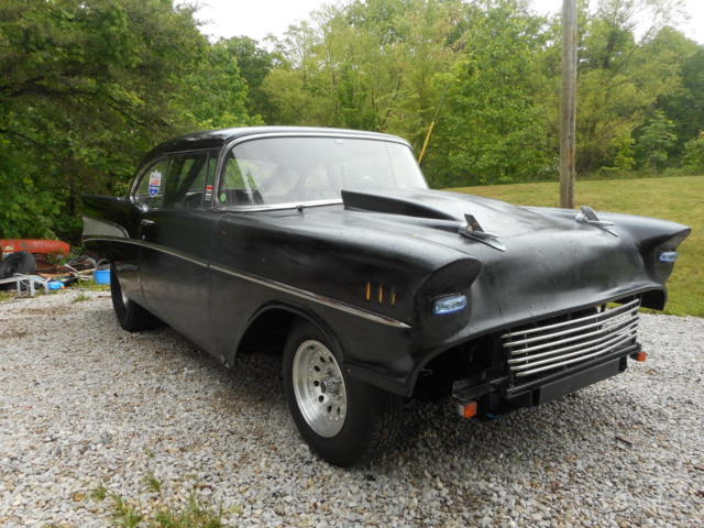 1957 chevy pro street old school gasser drag hot rod 2dr. Black Bedroom Furniture Sets. Home Design Ideas