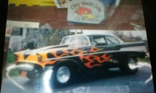 Chevy Pro Street Old School Gasser Drag Hot Rod Dr Hardtop Beliar on 1957 Chevy Frame