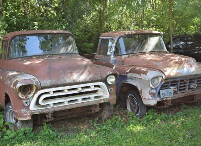 1957 chevy truck apache 3100 for sale chevrolet other pickups 1957 for sale in terre haute. Black Bedroom Furniture Sets. Home Design Ideas
