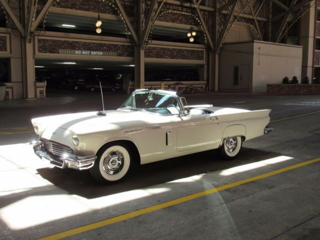 1957 ford thunderbird colonial white gorgeous 312 v8 1 top for Schroeder motors st charles