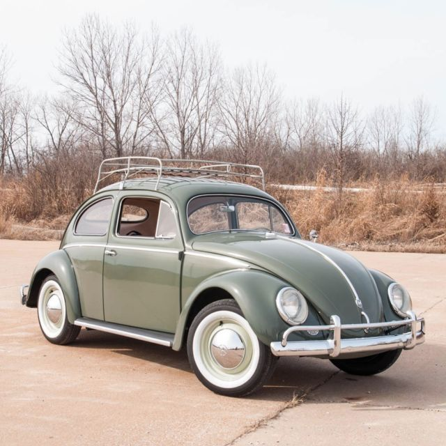 1957 volkswagen beetle oval window beautifully restored 1600cc roof rack look for sale. Black Bedroom Furniture Sets. Home Design Ideas