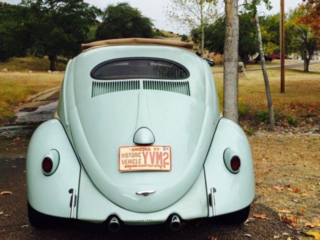 1957 Vw Beetle  Bug Ragtop  Oval Window For Sale