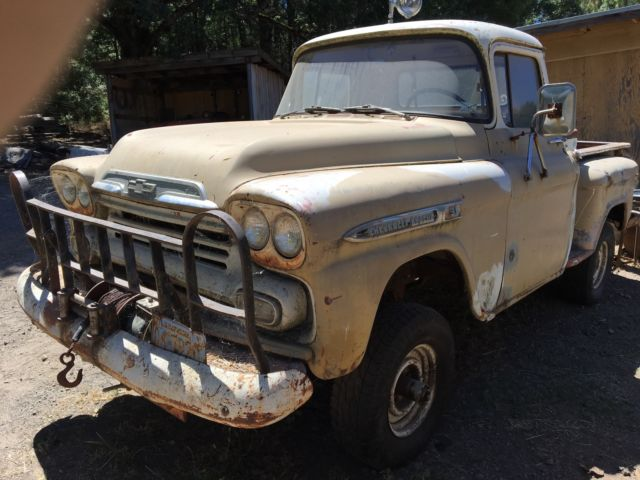 1958 chevrolet apache 4x4 napco california truck for sale chevrolet other pickups apache. Black Bedroom Furniture Sets. Home Design Ideas