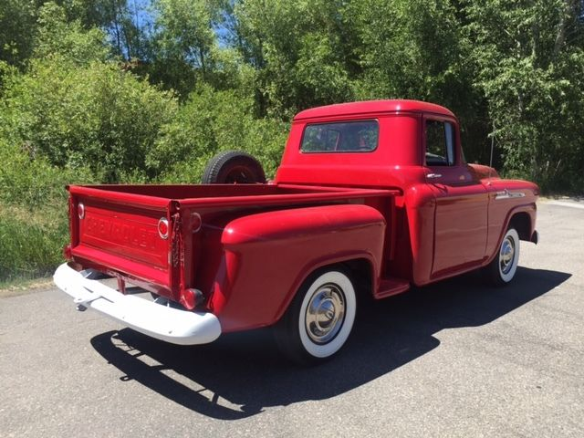 1958 chevrolet apache shortbed stepside chevy beautiful truck no reserve for sale chevrolet. Black Bedroom Furniture Sets. Home Design Ideas
