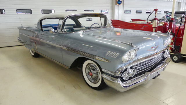 1958 chevrolet impala 59648 miles light blue 2 door hardtop 283 manual 3 speed for sale. Black Bedroom Furniture Sets. Home Design Ideas
