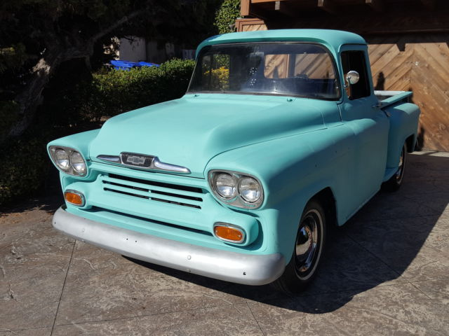 Dyna For Sale Southern California >> 1958 Chevy 3100 Apache Short Bed Old School Classic Hot Rod Vintage Cruiser C10 for sale ...