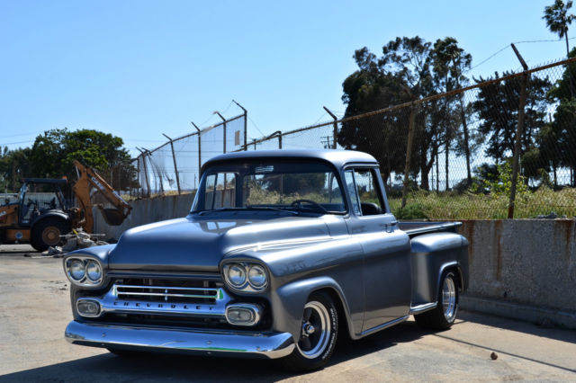 1958 chevy frame off show truck 500hp 454ci a c camaro ifs better than new for sale. Black Bedroom Furniture Sets. Home Design Ideas