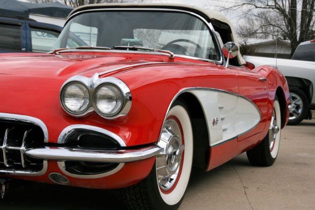 1958 corvette signet red black interior older frame off very nice driver for sale chevrolet. Black Bedroom Furniture Sets. Home Design Ideas