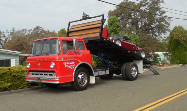 1958 FORD C600 COE 5 WINDOW TILT BED AND CAB 352 CI 68 ...