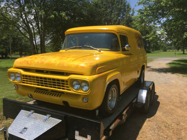 1958 ford panel truck 350 chevy motor 400 turbo transmission for sale ford panel truck 1958. Black Bedroom Furniture Sets. Home Design Ideas
