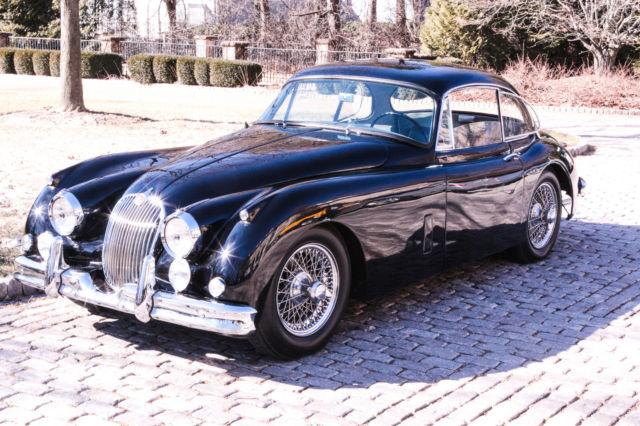 1958 jaguar xk 150 coupe beautiful black with gray interior for sale jaguar xk 1958 for. Black Bedroom Furniture Sets. Home Design Ideas