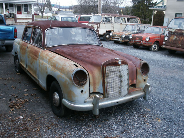 1958 mercedes benz 220 sedan parts car mb 220 benz 220 for Mercedes benz truck parts