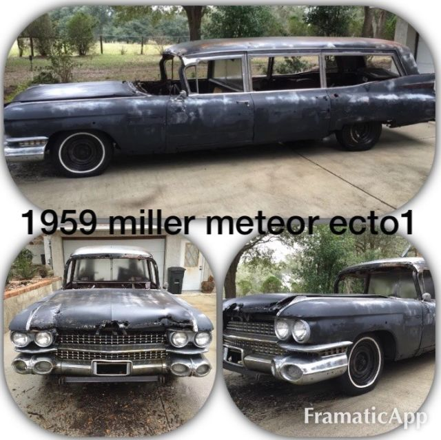 1959 Cadillac Miller meteor hearse ambulance ecto1