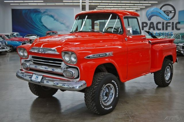 1959 chevrolet apache 4x4    327 v8    turbo 350 for sale