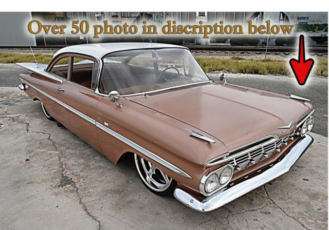 1959 Chevrolet Belair 2 Door Coupe 350 Bagged Disc Brakes