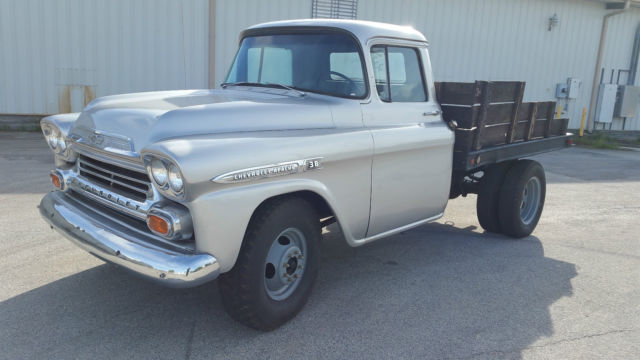1959 Chevy Apache 38 3800 1 Ton Flat Bed Dually For Sale