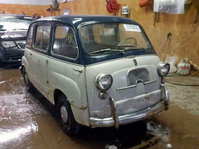 1959 fiat 600 multipla 600 multipla / clean title/ all original 0 white /  blue s