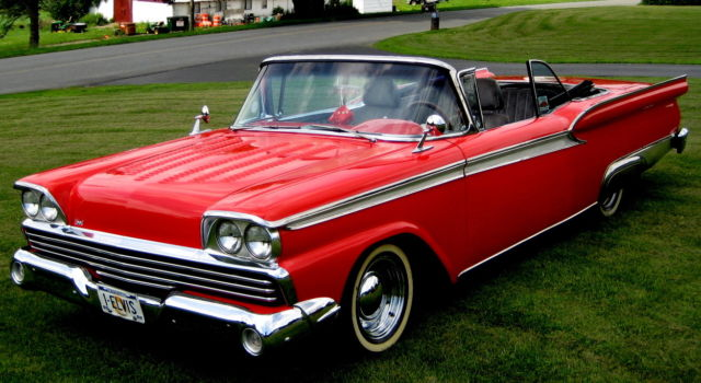 1959 Galaxie Fairlane 500 Custom Converible,428 V-8,Auto,PS,PB,PW