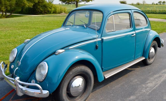 1959 vw bug with rebuilt 1960 vw bug 1385 cc engine 40 hp for sale volkswagen beetle. Black Bedroom Furniture Sets. Home Design Ideas