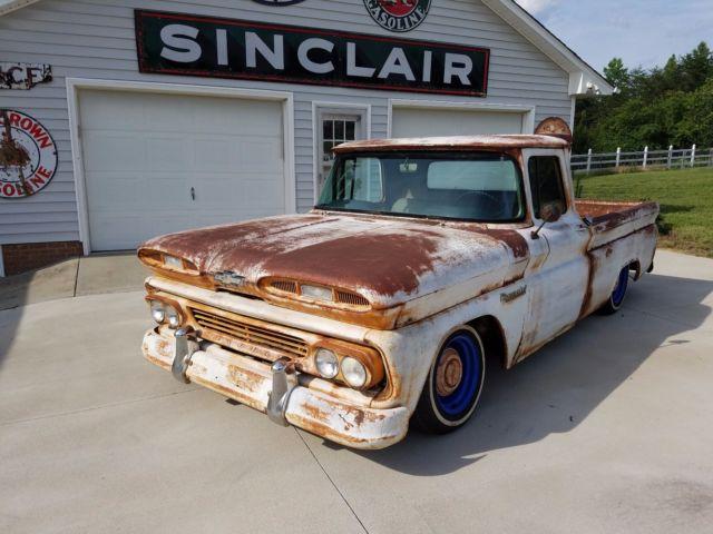 1960 bagged chevy c10 patina pickup truck apache ratrod hot rat rod custom for sale chevrolet. Black Bedroom Furniture Sets. Home Design Ideas