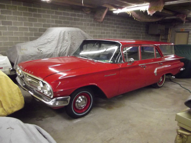 1960 chevrolet brookwood station wagon barn find original. Black Bedroom Furniture Sets. Home Design Ideas