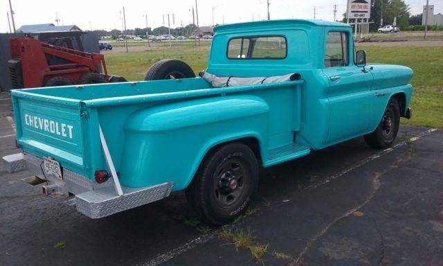1960 chevy c 20 3 4 ton pickup truck chevrolet original motor transmission for sale. Black Bedroom Furniture Sets. Home Design Ideas