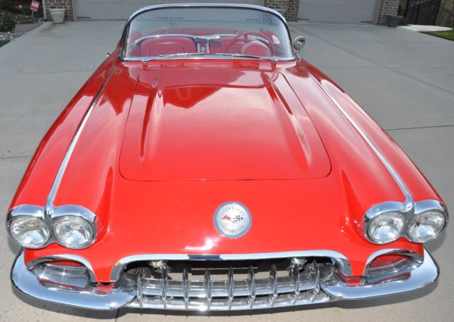 1960 Corvette Red With White Coves Red Interior Automatic For Sale Chevrolet Corvette 1960