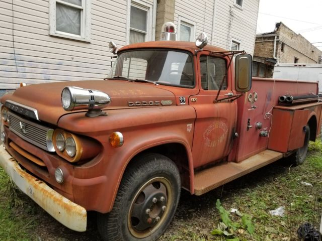 1960 dodge truck power wagon d500 firetruck 1959 fire for Motorized wagon for sale
