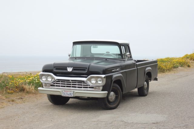 1960 f100 custom cab super runner crazy upholstery no rust at all ca truck for sale ford. Black Bedroom Furniture Sets. Home Design Ideas