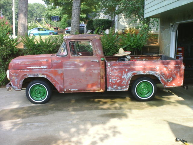 1960 ford f100 custom classic pickup truck 351w c4 hot rat rod 1960 ford f100 custom classic pickup truck 351w c4 hot rat rod patina