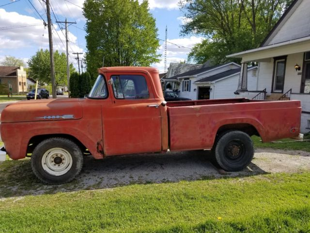 1960 ford f250 3 4 ton pickup w matching 1960 truck bed trailer for sale ford f 250 1960 for. Black Bedroom Furniture Sets. Home Design Ideas