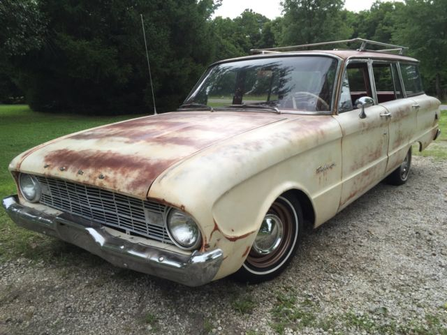 1960 ford falcon station wagon deluxe model rare options great shape for sale ford falcon. Black Bedroom Furniture Sets. Home Design Ideas