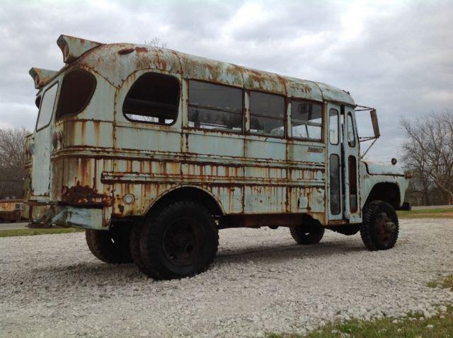 1960 NAPCO Mercury short school bus rat rod 4x4 rare monster