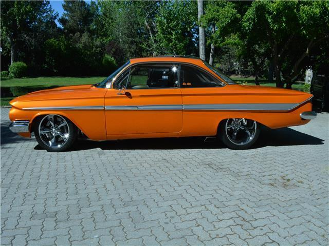 1961 chevrolet impala ss 2 951 miles orange 2 door sport coupe 510 cid automatic for sale. Black Bedroom Furniture Sets. Home Design Ideas