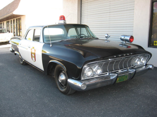 1961 dodge pioneer dart vintage police squad patrol car replica been in 3movies for sale other. Black Bedroom Furniture Sets. Home Design Ideas