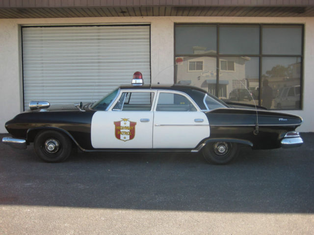 1961 dodge pioneer dart vintage police squad patrol car. Black Bedroom Furniture Sets. Home Design Ideas