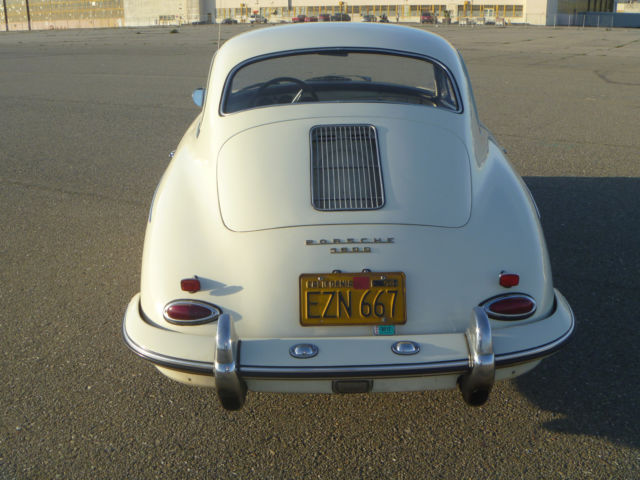 1961 porsche 356b t5 coupe 912 90hp engine ivory w black interior 356 b driver for sale. Black Bedroom Furniture Sets. Home Design Ideas