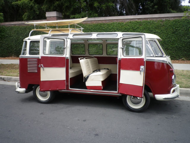 1961 Vw 23 Split Window Samba Bus Rag Top For Sale