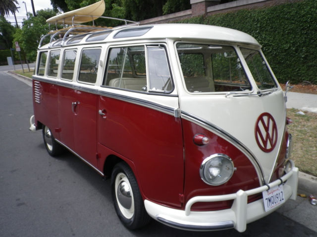 1961 Vw 23 Split Window Samba Bus Rag Top For Sale