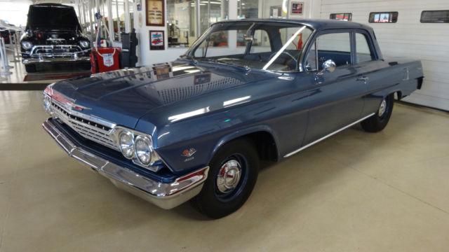 1962 chevrolet biscayne 60271 miles blue 2 door sedan 409. Black Bedroom Furniture Sets. Home Design Ideas