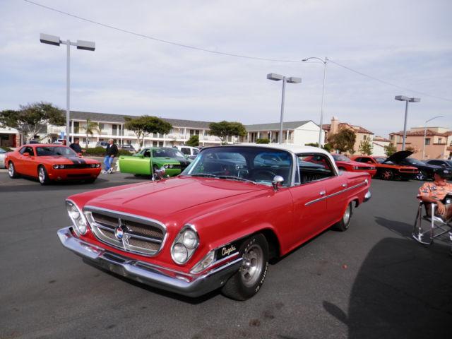 1962 chrysler 300 red hardtop sedan 383 auto clean low miles calif car rust free for sale. Black Bedroom Furniture Sets. Home Design Ideas