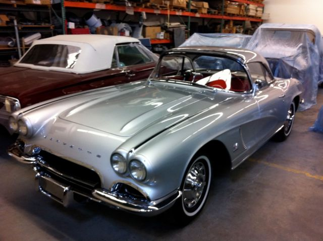 1962 Corvette 327 360HP Fuel Injected 4 Speed Silver