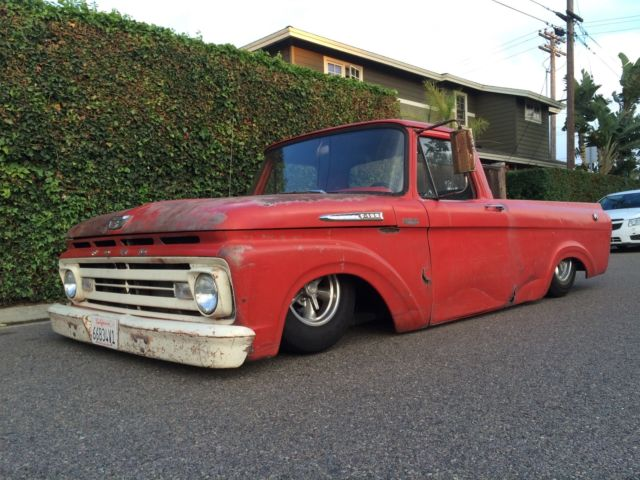 1962 ford f100 hot rod truck pickup shop with chevy motor for Ford truck motors for sale