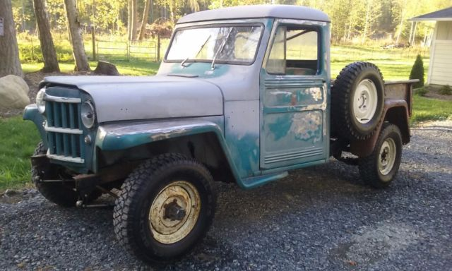1962 willys jeep 4x4 pickup truck for sale willys pickup 1962 for sale in graham washington. Black Bedroom Furniture Sets. Home Design Ideas