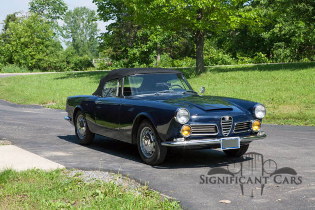 1963 alfa romeo 2600 spider by touring great rare alfa. Black Bedroom Furniture Sets. Home Design Ideas