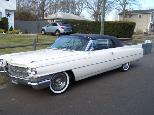 1963 cadillac convertible restored for sale cadillac deville 1963 for sale in medford new. Black Bedroom Furniture Sets. Home Design Ideas