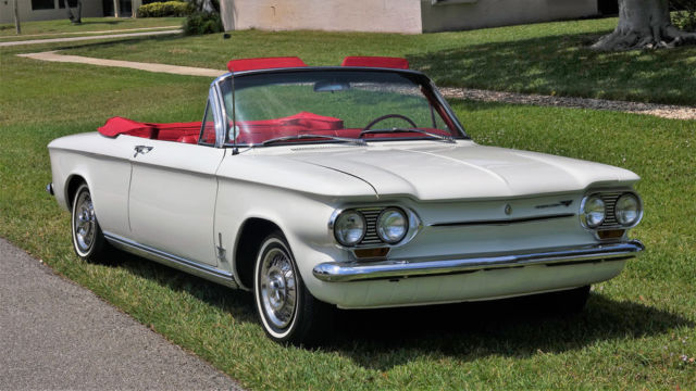 1963 chevrolet corvair monza turbo spyder 7 yr restoration actual 29 728 miles for sale. Black Bedroom Furniture Sets. Home Design Ideas