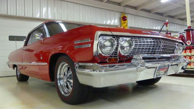 1963 chevrolet impala ss 54821 miles red 2 door hardtop 409 manual 4 speed for sale chevrolet. Black Bedroom Furniture Sets. Home Design Ideas